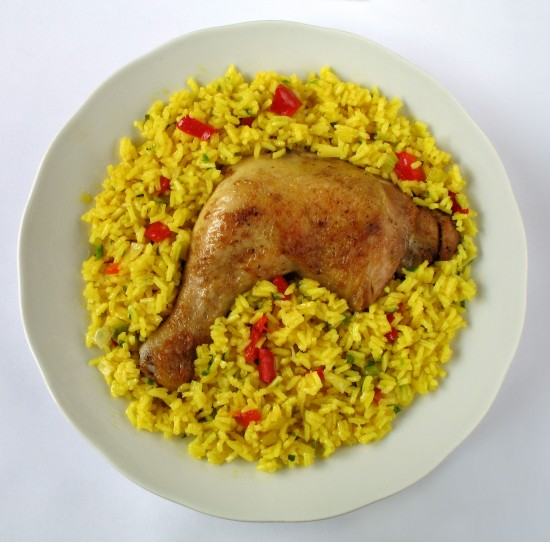 Fight winter blues with some tropical comfort food: arroz con pollo