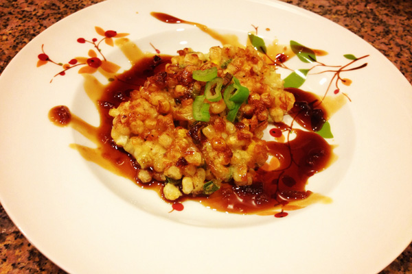 Corn Fritters with Sweet Tangy Chili Soy Sauce