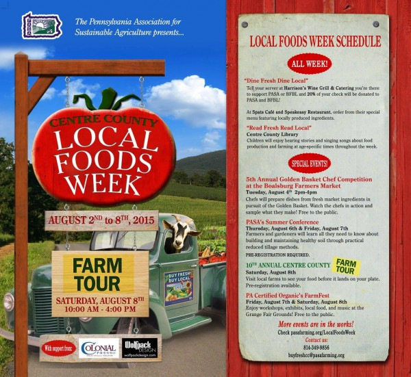 Celebrate our area's tasteful bounty during Local Foods Week Aug. 2-8
