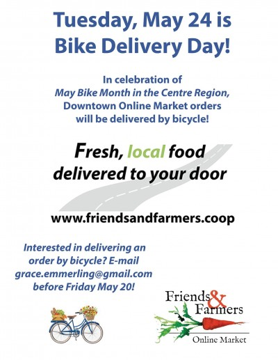 Friends & Farmers Cooperative Online Market to host Bike Delivery Day on May 24