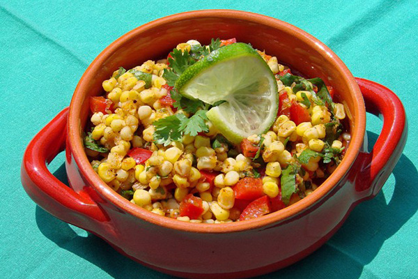 Corn Salad with Sweet Chili Lime Vinaigrette