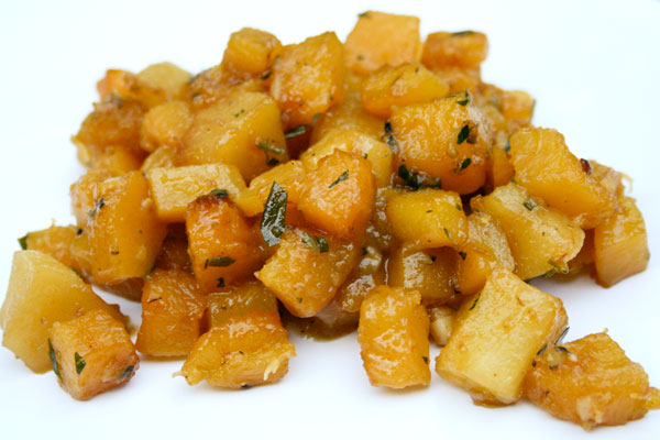 Sauteed Delicata Squash with Apples and Thyme