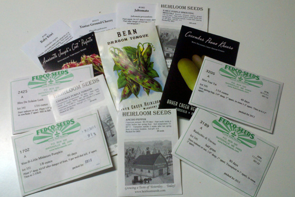 Don't wait to make online seed orders for 2012 garden season!