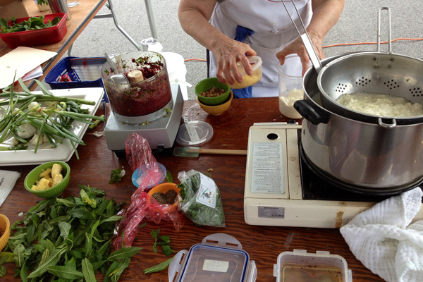 Learning Kitchen #1 at the Boalsburg Farmers Market June 25