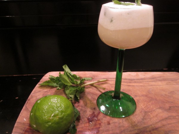 Celebrate New Year's Eve with a family friendly pineapple, lime, coconut, and mint 'mocktail'