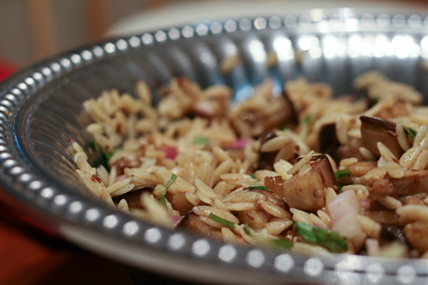 Orzo with Roasted Eggplant and Cinnamon-Cumin Dressing