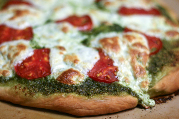 Pesto Pizza.