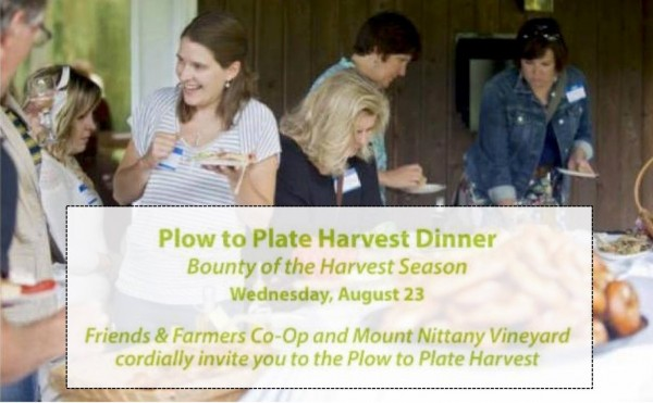 "Friends & Farmers Announces ""Plow to Plate–A Harvest Dinner"" Aug. 23"