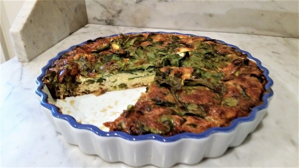 Crustless spring quiche celebrates local early vegetables