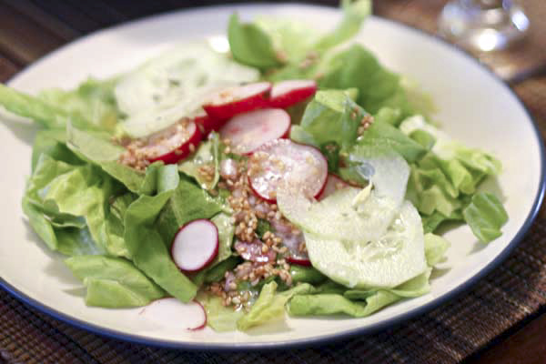 Radishes and Cucumbers with Shallot Dressing