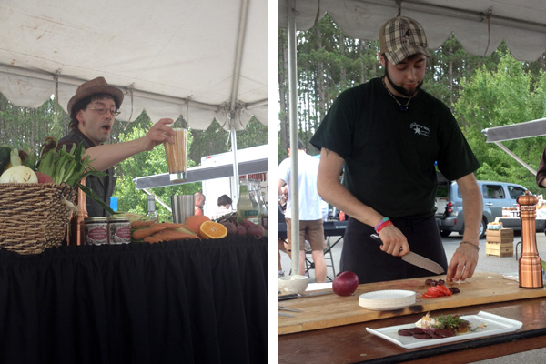 The Learning Kitchen at the Boalsburg Farmers Market: Cocktails, Okra, and Kohlrabi