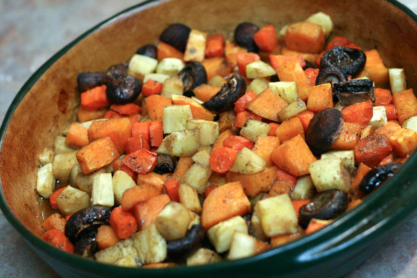 Maple and Sage Roasted Root Vegetables